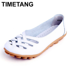 2016 Mama summer 35~41 genuine leather women shoes lady flats woman sandals female ballet dance shoes woman loafers moccasins