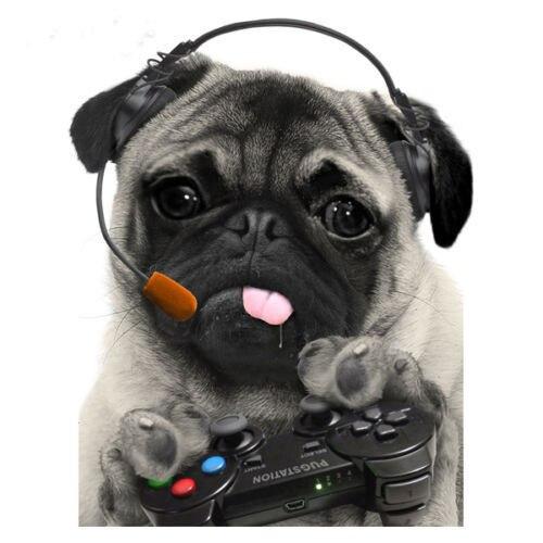 gaming pug t shirt men women funny pugs top cute puppy gamer