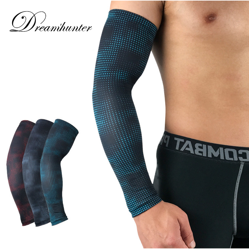 Men's Arm Warmers Men's Accessories Bright Puimentiua Breathable Quick Dry Arm Sleeves Uv Protection Compression Running Basketball Elbow Pad Fitness Sports Arm Warmers
