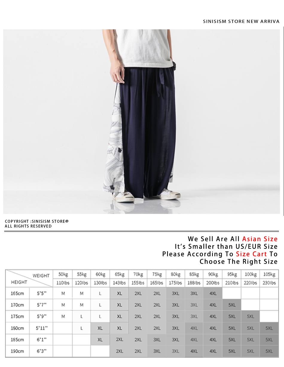 Sinicism Store 2020 Summer Chinese Style Cotton Pants Mens Patchwork Vintage Loose Pants Male Wide Leg Pants 23