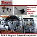Автомобильная Камера Заднего вида/Резервное Копирование Камера Заднего Наборы Для Mazda CX-9 CX9 CX 9 2007 ~ 2014/RCA & Оригинальный Экран совместимость