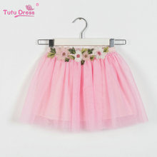 2-12 Years Girl Clothes TuTu Skirt Kids Princess Girls Floral Skirts