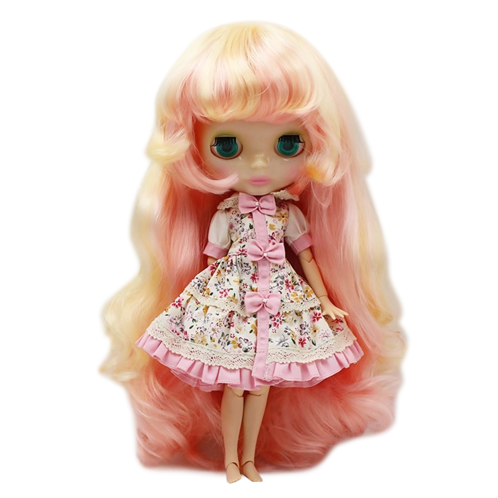 Dream Fairy Nude Blyth Doll Series No 313 1010 Yellow mix Pink hair Suitable For DIY