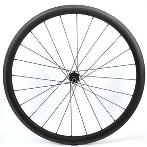 Image 3 - 1130g seulement 700C roues de vélo de route en Fiber de carbone roue de vélo tubulaire ou pneu moyeu de traction droite et 4.3g a parlé pour Clmbing