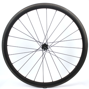 Image 3 - 1130g tylko zestaw kół rowerowych 700C z włókna węglowego koło rowerowe rurowe lub Clincher prosto Pull Hub i 4.3g mówił do Clmbing