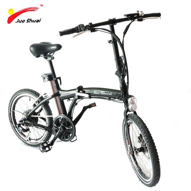 20''Folding электрический велосипед с безщеточный 36V10Ah литиевая батарея скутер черный