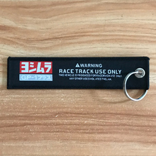 High quality RACE TRACK USE ONLY GP youshimura JDM embroidery nylon Weaving Car key ring keychain auto motorcycle accessories