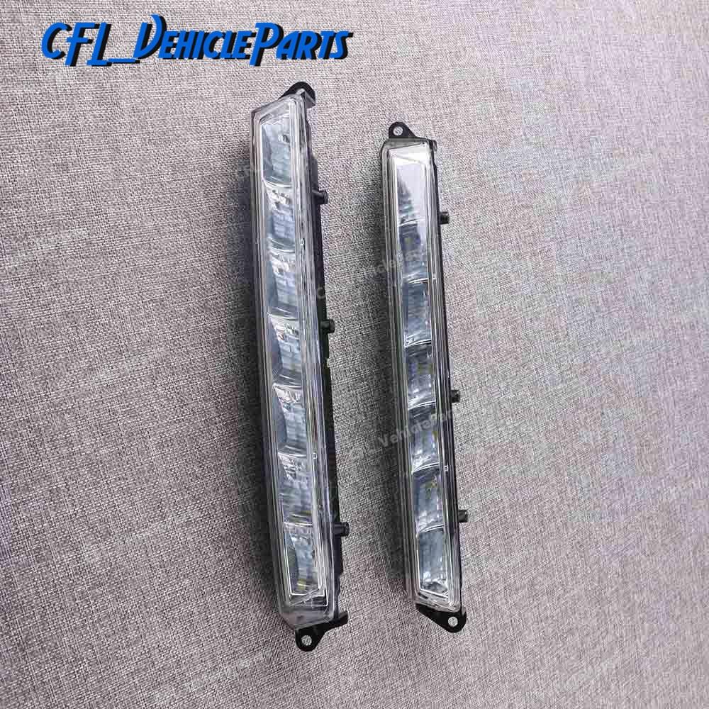 Pair Left Right LED Daytime Running Light Fog Lamp 1649060351 1649060451 For Mercedes Benz X164 X166