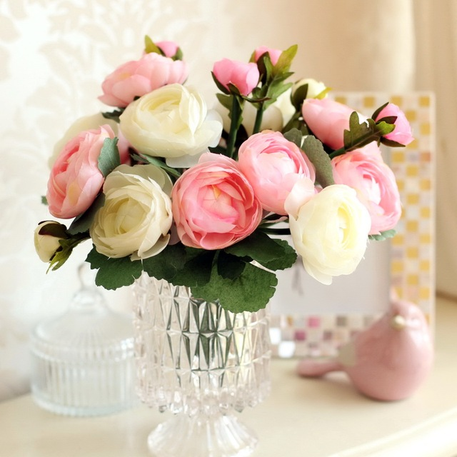 Royal french rose decoration flower artificial flower artificial     Royal french rose decoration flower artificial flower artificial flower  dried flowers wedding bouquet