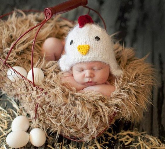 3112221d5e1 Easter Chick baby hat