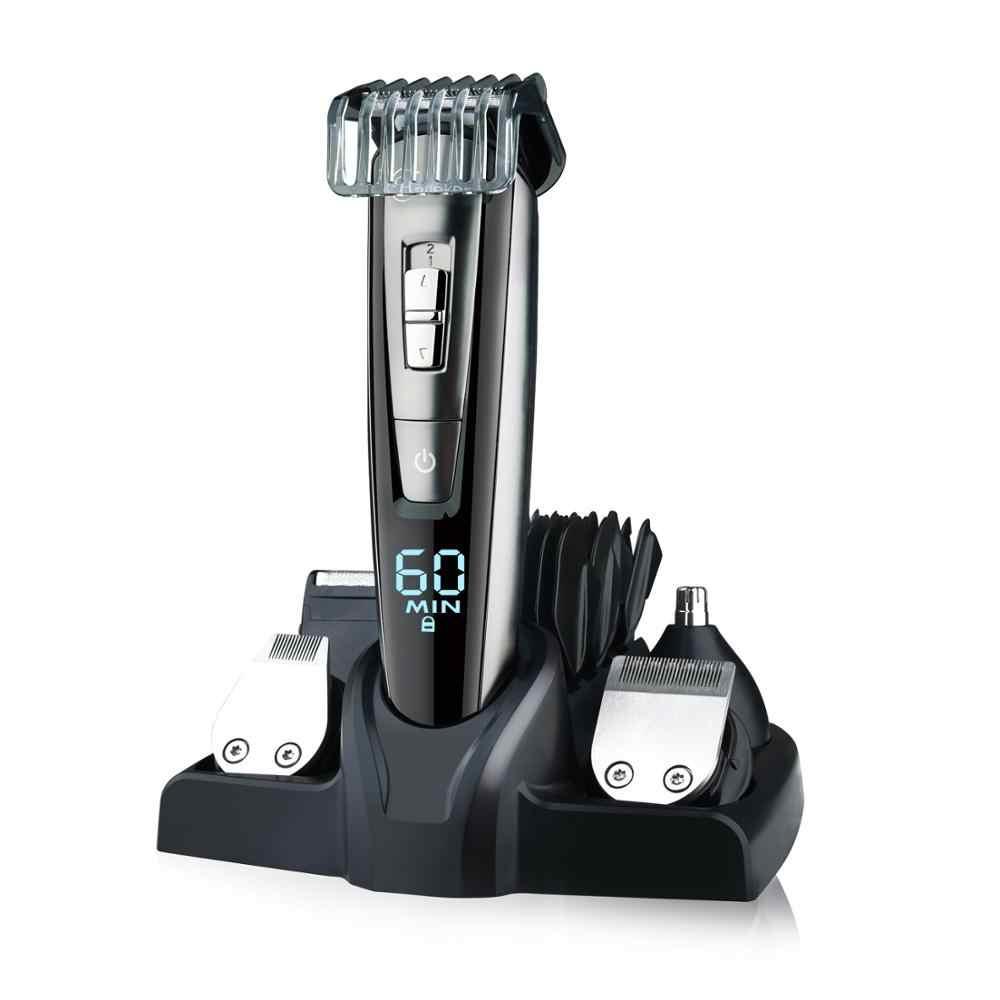 HATTEKER professional hair trimmer wasserdicht 5 in1hair clipper elektrische haar schneiden maschine bart trimer körper männer haarschnitt
