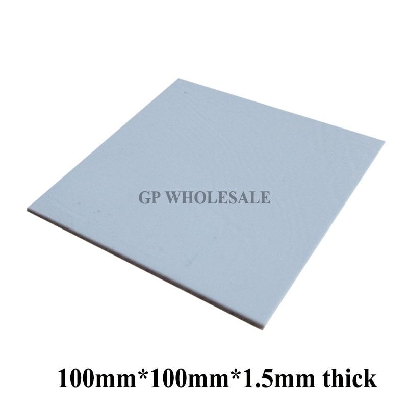 100mm * 100mm * 1,5mm Weiche Silikon Thermische Pad/thermische Pads/wärme Leitfähigen Für Kühlkörper Laptop/ic/chipset/chip/vga Gpu Lücke Starke Verpackung