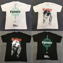 19SS High Quality Future Rhude T Shirt Men Women Couples Figure Print Hip Hop Top Tees Streetwear Tshirt