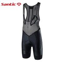 SANTIC Men Trisuit Triathlon Cycling Bib Shorts Mtb Mountain Bike Shorts Pro Team Sportful Bib Shorts Downhill Cycling clothes