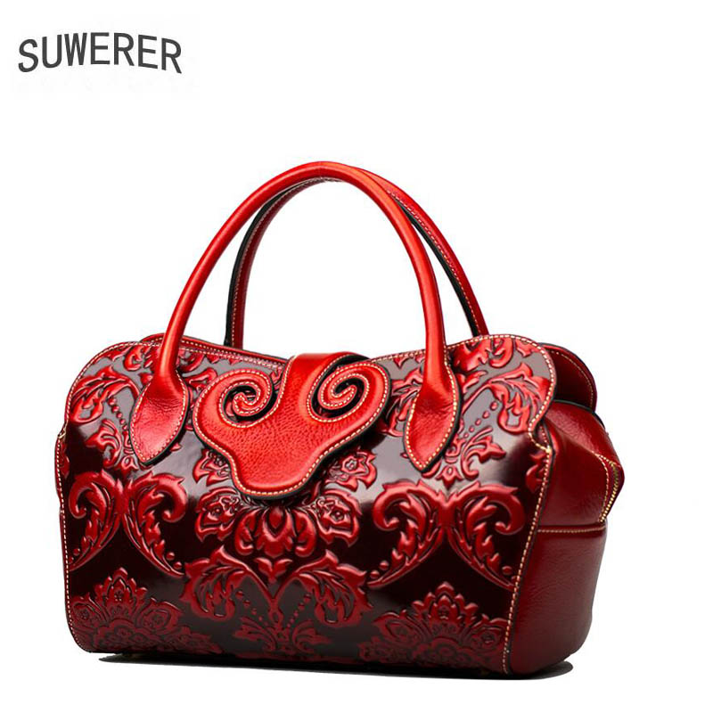 2018 new Genuine Leather women bags for women embossing luxury handbags women bags designer bags handbags women famous brands