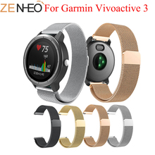 Milanese Loop Replacement Strap for Garmin vivoactive3 Wristband 20mm Band Stainless steel Wrist Strap For Garmin Vivoactive 3 цена в Москве и Питере