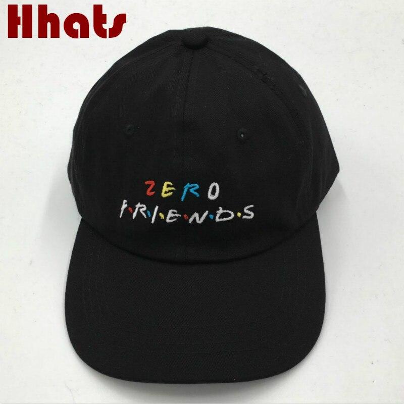 which in shower Black Embroidered ZERO FRIEND Dad Hat Adjustable Funny Baseball Cap Hip Hop Fashion Snapback Trucker Bone Male