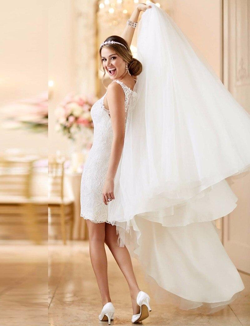 De alta Calidad de La Nueva Manera de Encaje Vestidos de Novia con Desmontable T