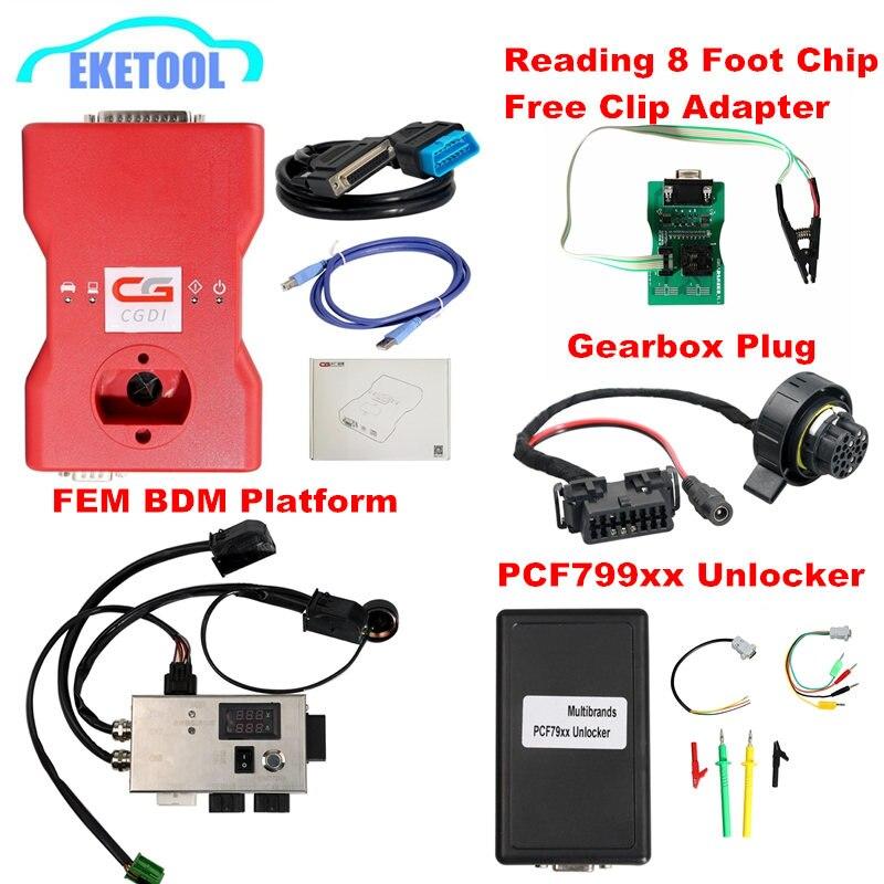 Original CGDI 3 em Função 1 Prog Para BMW Programador Chave Para A BMW FEM/EDC Função Teste Platfirm Caixa de Velocidades plugue PCF79XX Unlocker