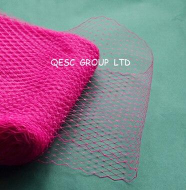 Новая птичья клетка материал для millinery sinamay шляпа церковная Шляпа Чародей, 10 ярдов/партия, серебряный цвет - Цвет: hot pink