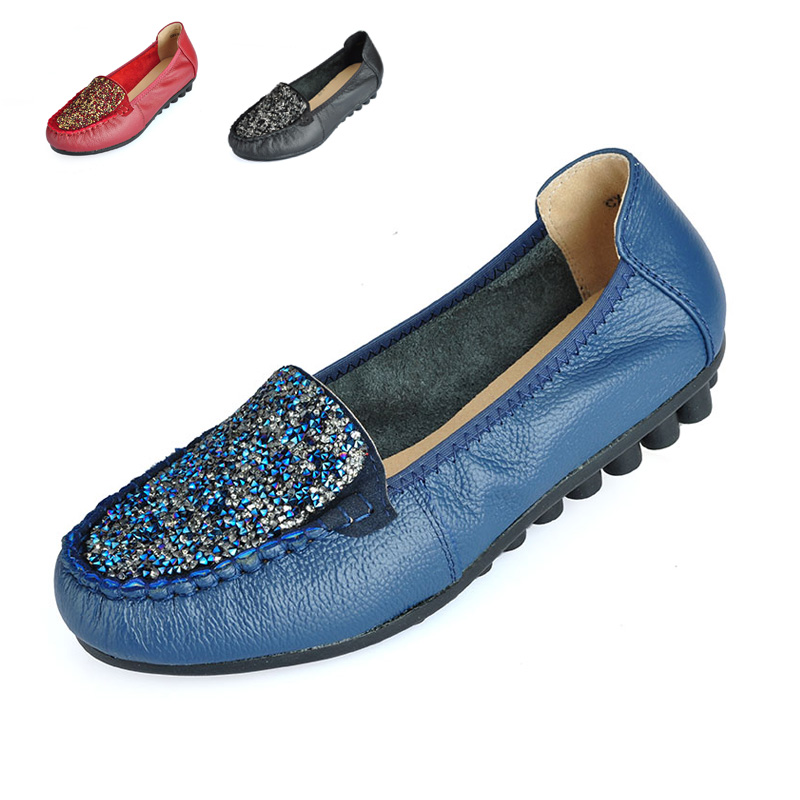 100% Genuine leather Women flats China Brand Handmade Women Casual leather shoes,Leather Moccasin Fashion Women Driving Shoes