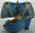 ME0083 FREE SHIPPING!African matching shoe and bag set for wedding and party,high quality italian design for shoes.