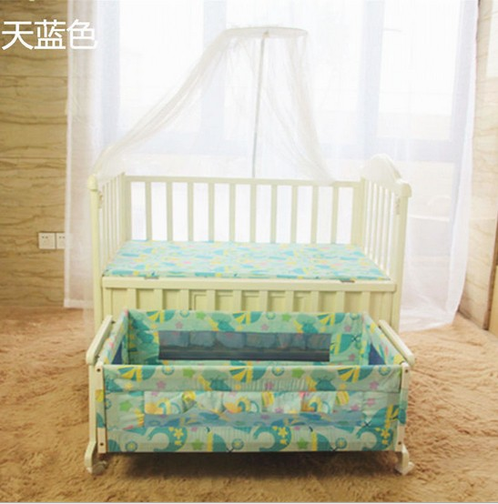 Multi-function baby crib wood manipulator children bed with children cradle of giving bed nets promotion 6pcs baby bedding set cot crib bedding set baby bed baby cot sets include 4bumpers sheet pillow