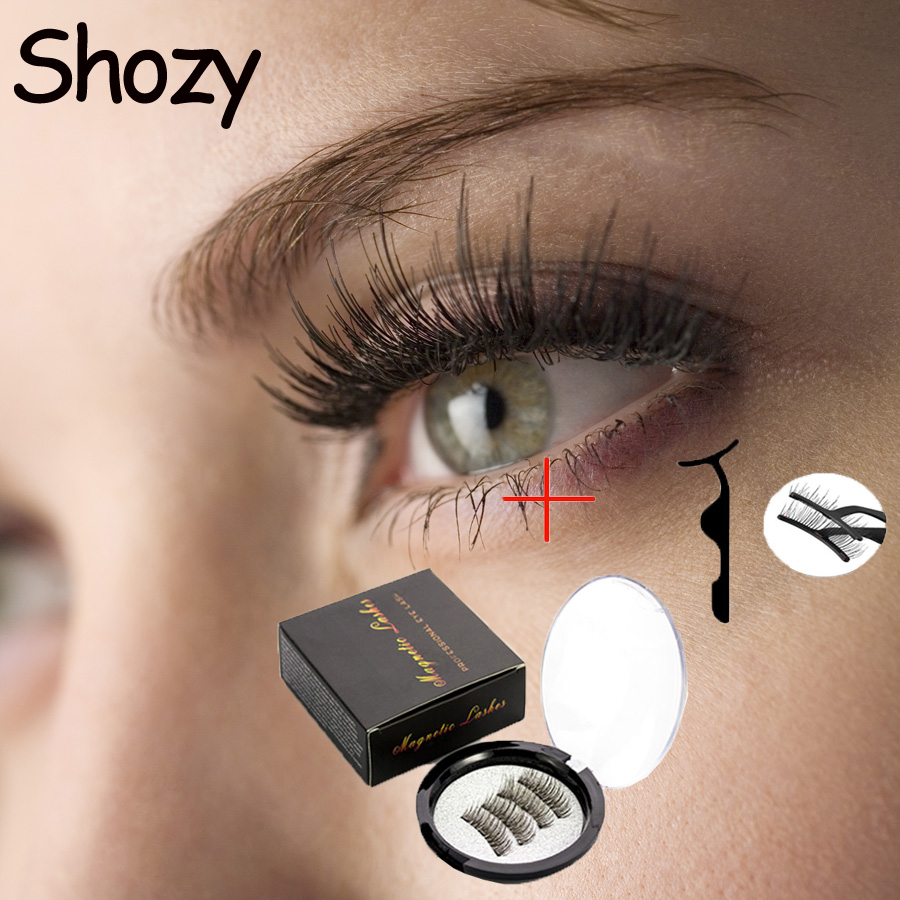 <font><b>Shozy</b></font> <font><b>Magnetic</b></font> <font><b>eyelashes</b></font> with 3 magnets <font><b>magnetic</b></font> lashes natural false <font><b>eyelashes</b></font> magnet lashes with <font><b>eyelashes</b></font> applicator-24P-3-TZ image