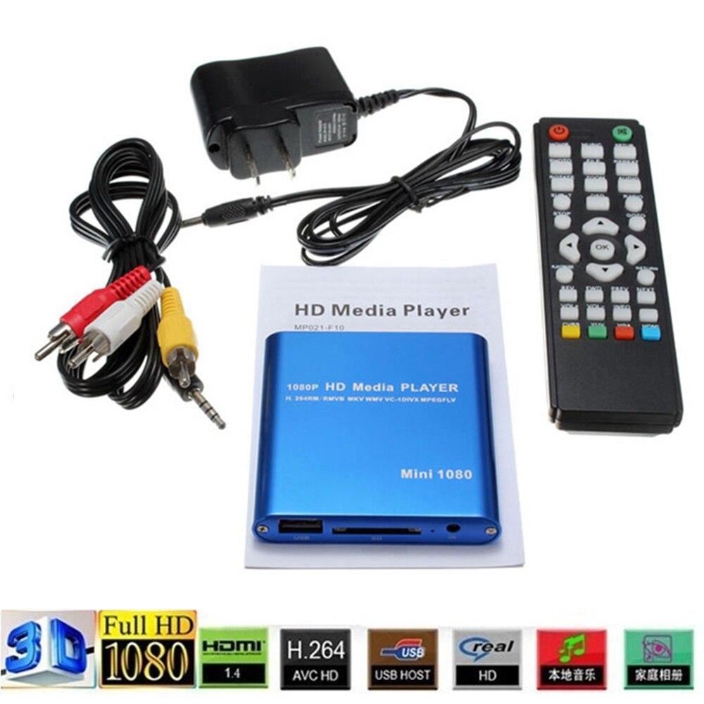 Mini Pleine HD1080p USB Externe HDD Player Avec SD MMC Lecteur de Carte Host HDMI Hdd Médias Multimédia Vidéo De Voiture HD lecteur Autoplay