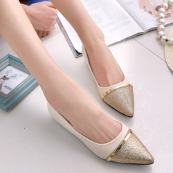 Spring autumn fashion women shoes pointed toe slip on flat shoes woman comfortable single casual flats.jpg 250x250