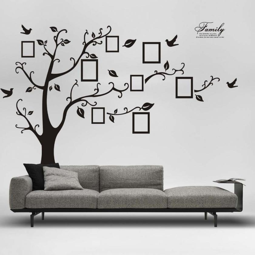 180*250cm 3D DIY Photo Tree Vinyl Wall Art Decorative Stickers Glass ...