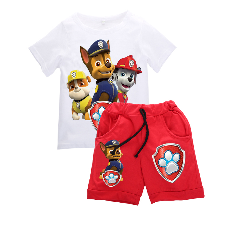 Hot New Kids Baby Boys Clothes Sets Boy Animal Print Clothing Sets Short sleeve T-shirt+shorts 2pcs set Children Clothing Summer