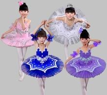 2017 New Children Ballet Dance Costume Kids Swan Lake Ballet Princess Dress Pancake Tutu Leotard Ballet Clothing For Girls