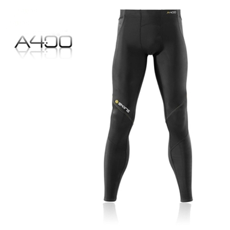 2017 NEW high quality SKINS sport men's Long Tights  gradient compression fitting sports / fitness trousers  A400 free shipping skins skins dnamic
