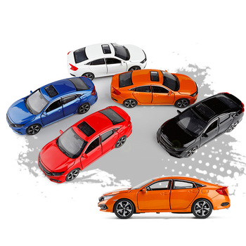 Honda 2019 Civic Car 1:32 Zinc Alloy Toy Car Metal Diecast Vehicle Sound Light Cars Model Children's Gifts Toys For Boys