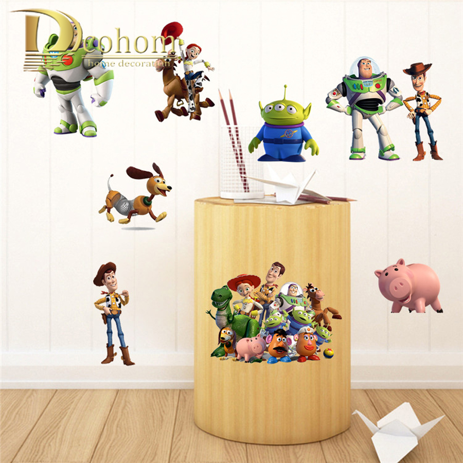 Buzz lightyear wall mural home design aliexpress com buy wall decals toy story woody buzz lightyear amipublicfo Image collections