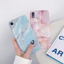 цена на For iphone X XS Max XR case Retro Marble hard Plastic Case for iphone 6 6s 8 7 6plus Stone pattern phone case back cover