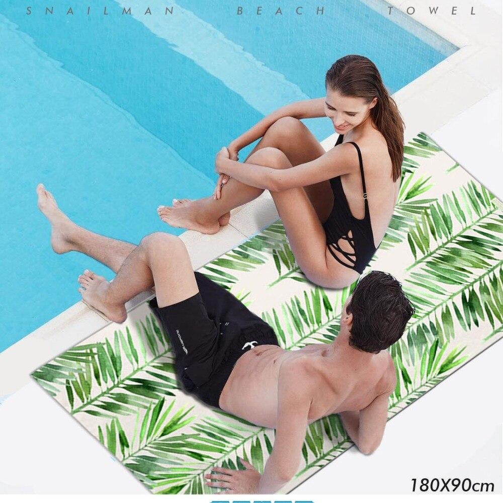 Marke strand Handtuch Mikrofaser Reise Picknick Handtuch palm Dive Hawaii Kompakte surf Handtuch