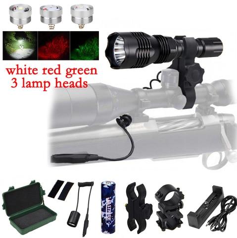 va 802 usb recarregavel luz olheiro 400 quintal 1000lm tatico rifle de caca lanterna a