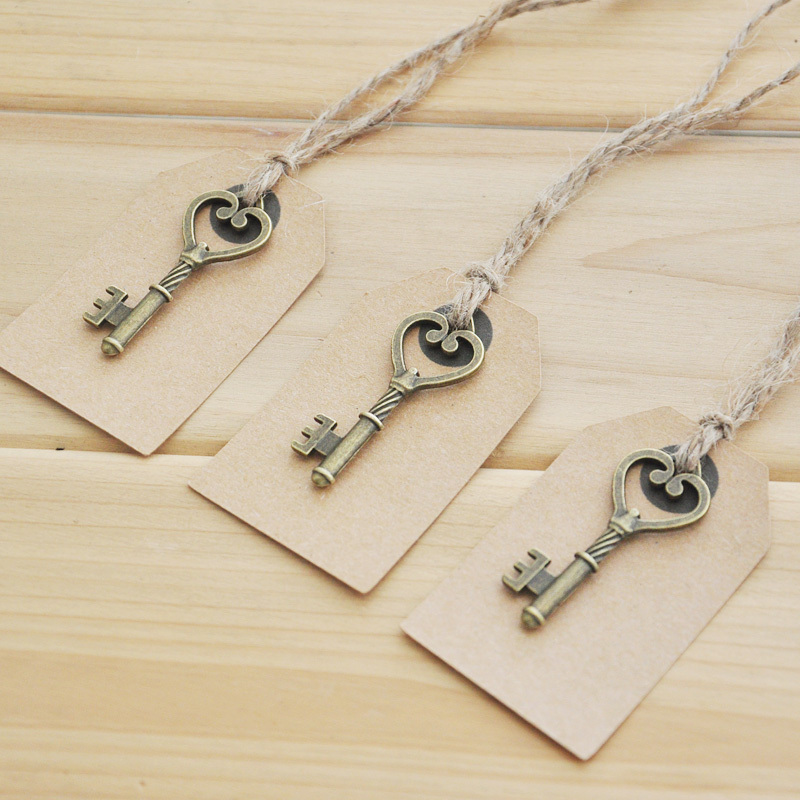 wedding tags antique key gift tags wedding favor tags set of