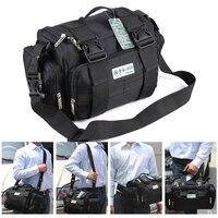 LAOA 15 Inç Çift Katmanlar alet çantası Su Geçirmez Elektrikçi Tamir Çantaları Omuz Tur Çantası Oxford aşınmaya dayanıklı Çanta