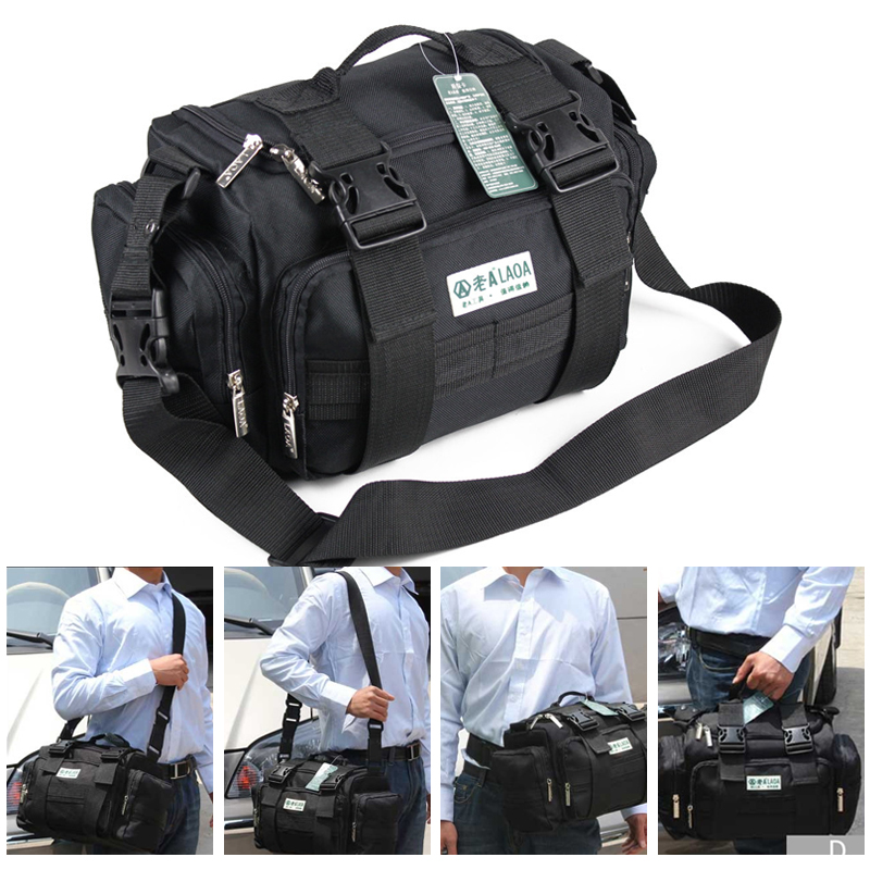 LAOA 15 Inch Double Layers Tools Bag Waterproof Electrician Repair Bags Shoulder Tour Bag Oxford Wear-resisting  Bag