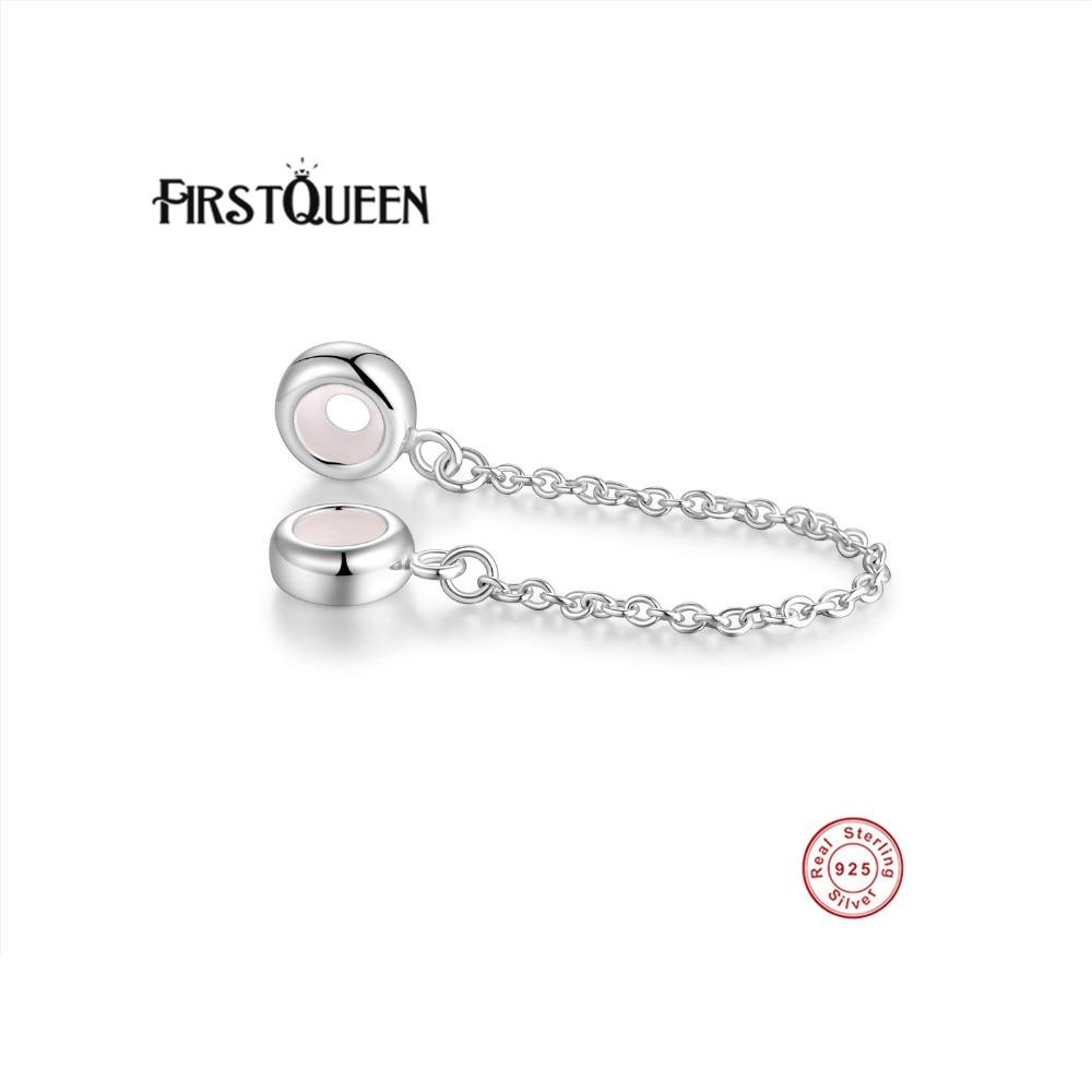 FirstQueen 10 teile/los Großhandel Silber 925 Safty Kette Stopper Silicon Perlen Passt Beliebtesten Original Armband Silber Charms-in Perlen aus Schmuck und Accessoires bei  Gruppe 1