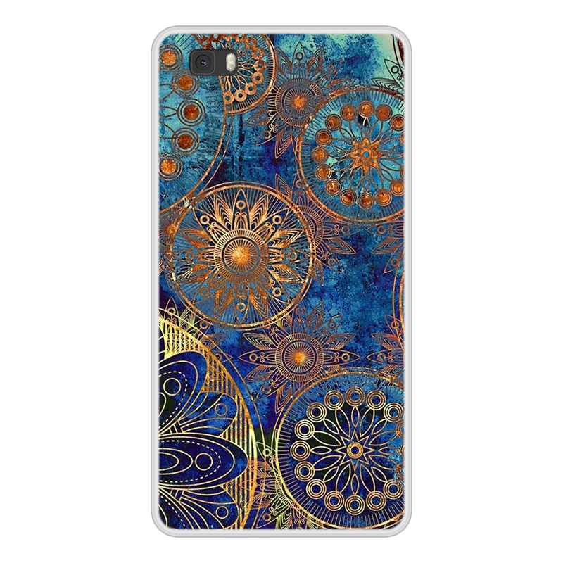 Case For Huawei P8 Lite Soft Silicone TPU Chic Pattern Paint Phone Cover For Huawei P8lite P 8 Lite ALE L21 Case Cover