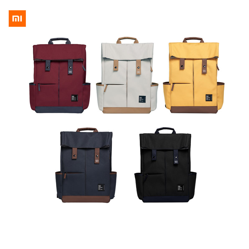 New Xiaomi Mijia 90fun Leisure backpack Ipx4 Water Repellent Large Capacity Knapsack 14 15 6 Inch