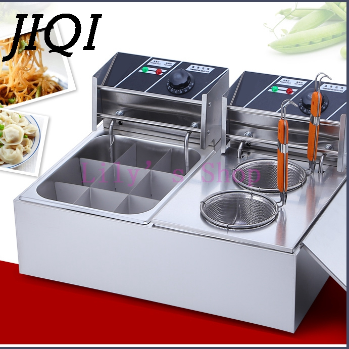 цена на DMWD Spicy Hot Pot electric Skewer heating machine string incenses Oden cooking stove commercial Stick Food noodles cooker 10L