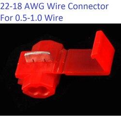 20 шт./лот, красный 801P3 G12 быстроразъемный обжимный терминал 22-18 проводной соединитель AWG для 0,5-1,0 провода, бесплатная доставка, Россия
