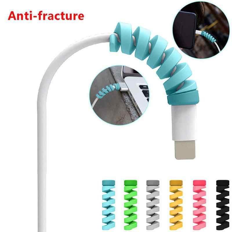 2 sztuk ładowania zabezpieczenie kabla Saver pokrywa dla Apple iPhone kabel do ładowarki usb przewód urocza rękaw ochronny do telefonów kabel