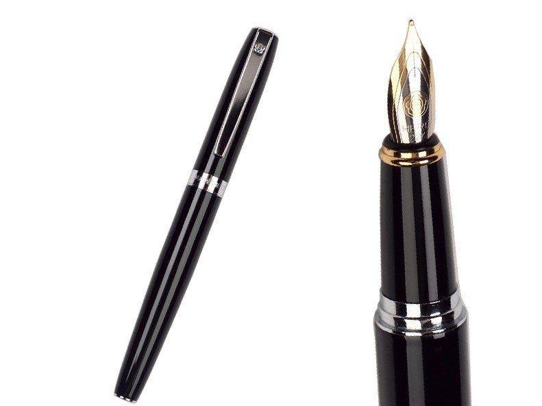 1 piece Fountain Pen Black Medium Nib HERO 382 standard pen office and school stationery Top-rated FREE  SHIPPING fountain pen curved nib or straight nib to choose hero 6055 office and school calligraphy art pens free shipping