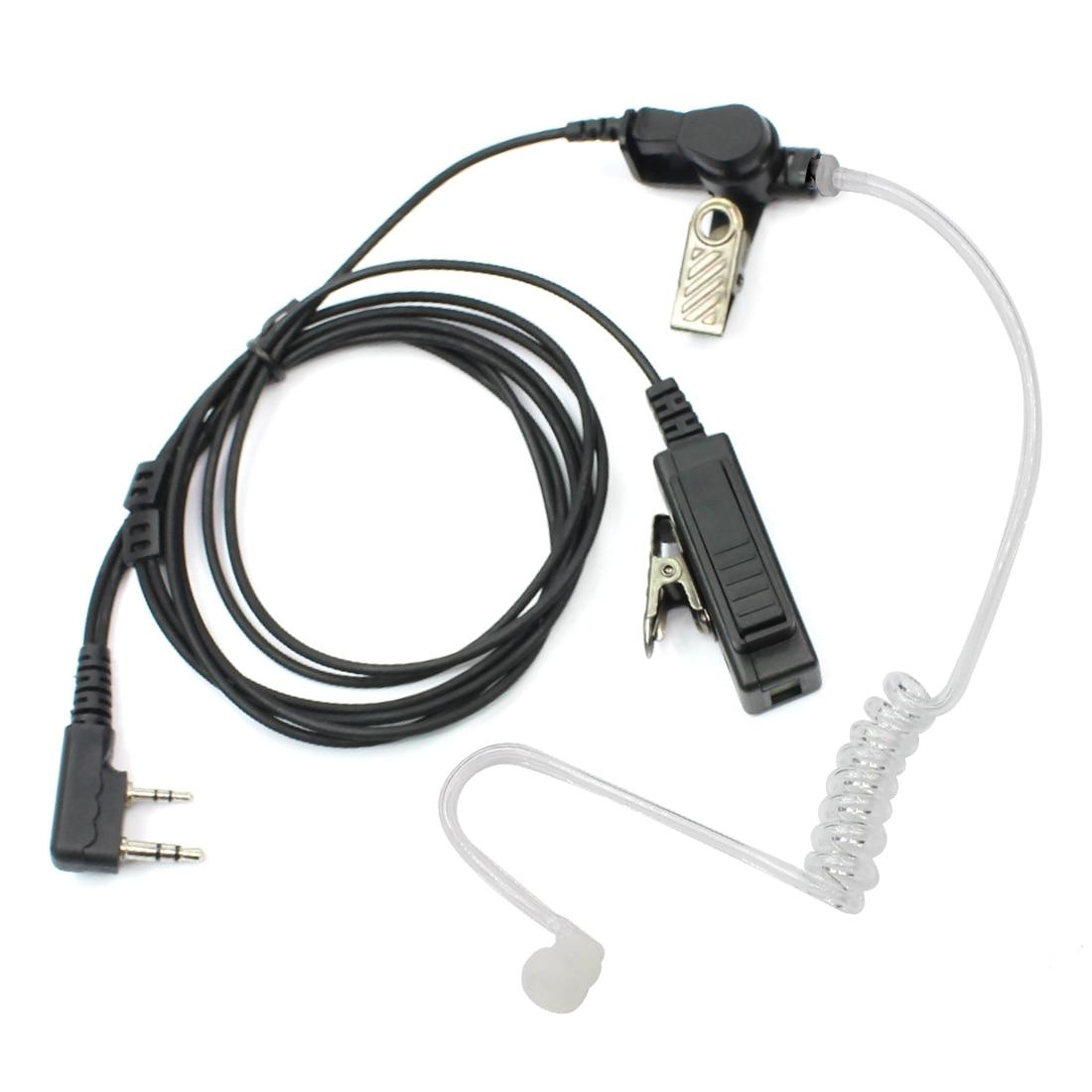2Pin PTT Mic In-ear Earpiece Headset for Retevis H777 Kenwood Baofeng TYT HYT